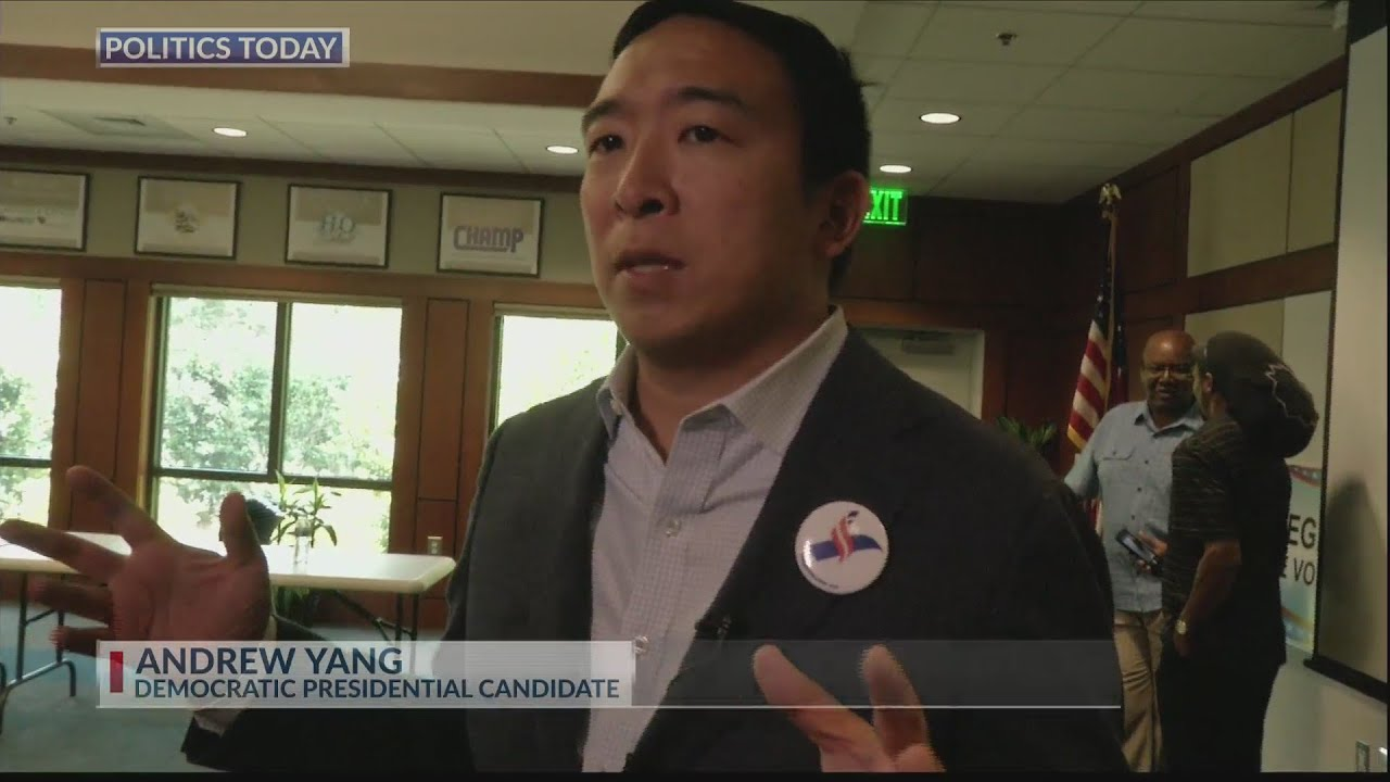 Download Andrew Yang stumps for votes in the Lowcountry