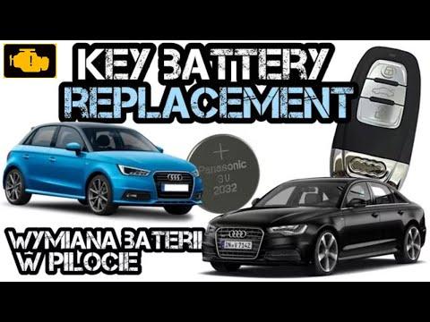Audi Key Fob remote Battery replacament 2008 – 2016 - wymiana baterii w pilocie Audi - YouTube