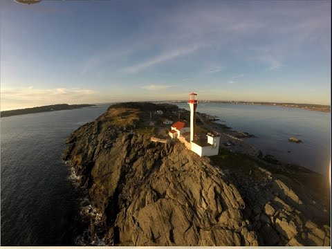 Yarmouth, Nova Scotia from Drone