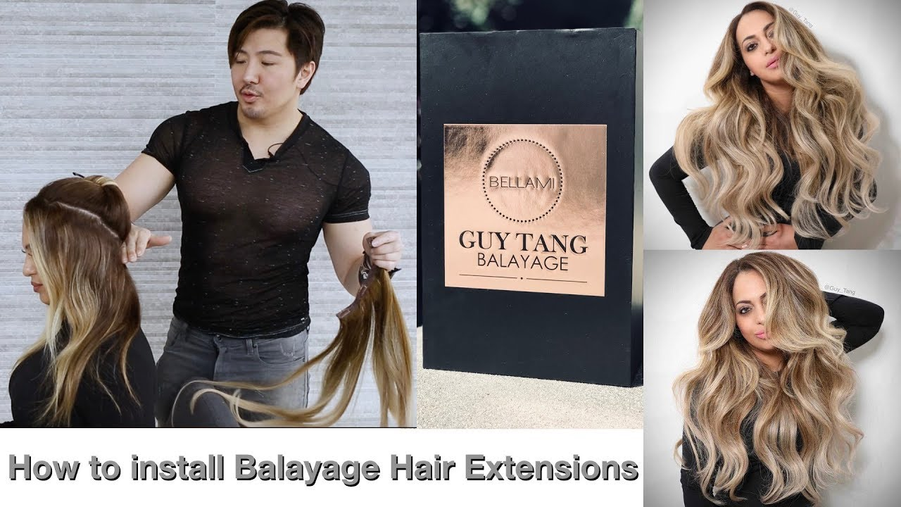 How To Install Balayage Hair Extensions Youtube