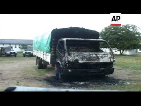 Kenya - Aftermath of attack at the Kenyan coast / Twenty-two people killed in attacks by gunmen in t