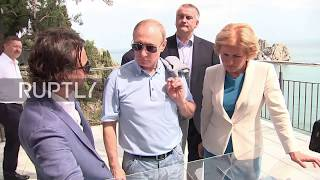Russia: Putin visits iconic Artek summer camp