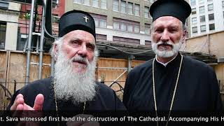 His Beatitude Patriarch Irinej of Serbia visited the Cathedral of St. Sava in NY, July 13, 2017.