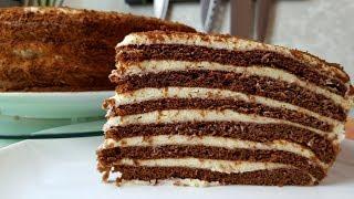 Торт Спартак, цыганка готовит.🍰 Торт на 23 февраля.🎖️Медовик шоколадный. Gipsy cuisine.👍