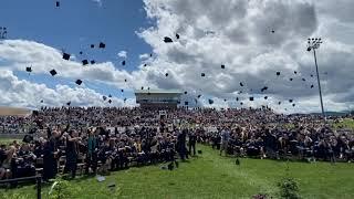 LCHS Class of 2021 graduation cap toss