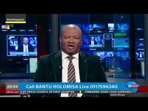 UDM leader Bantu Holomisa presents As It Happens on eNCA. Part 1