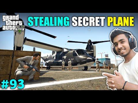 I STOLE SECRET FIGHTER PLANE FROM MILITARY BASE | GTA V GAMEPLAY #93