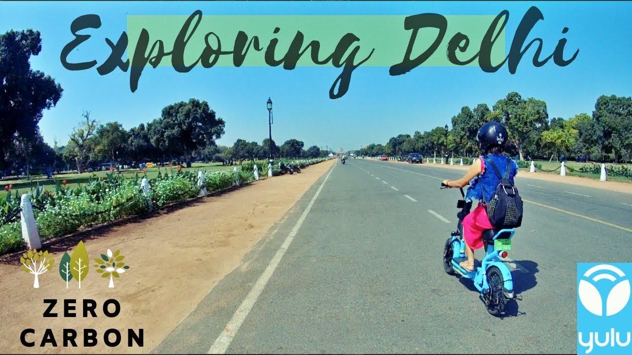 Exploring Delhi Pollution Free Yulu Bikes Youtube