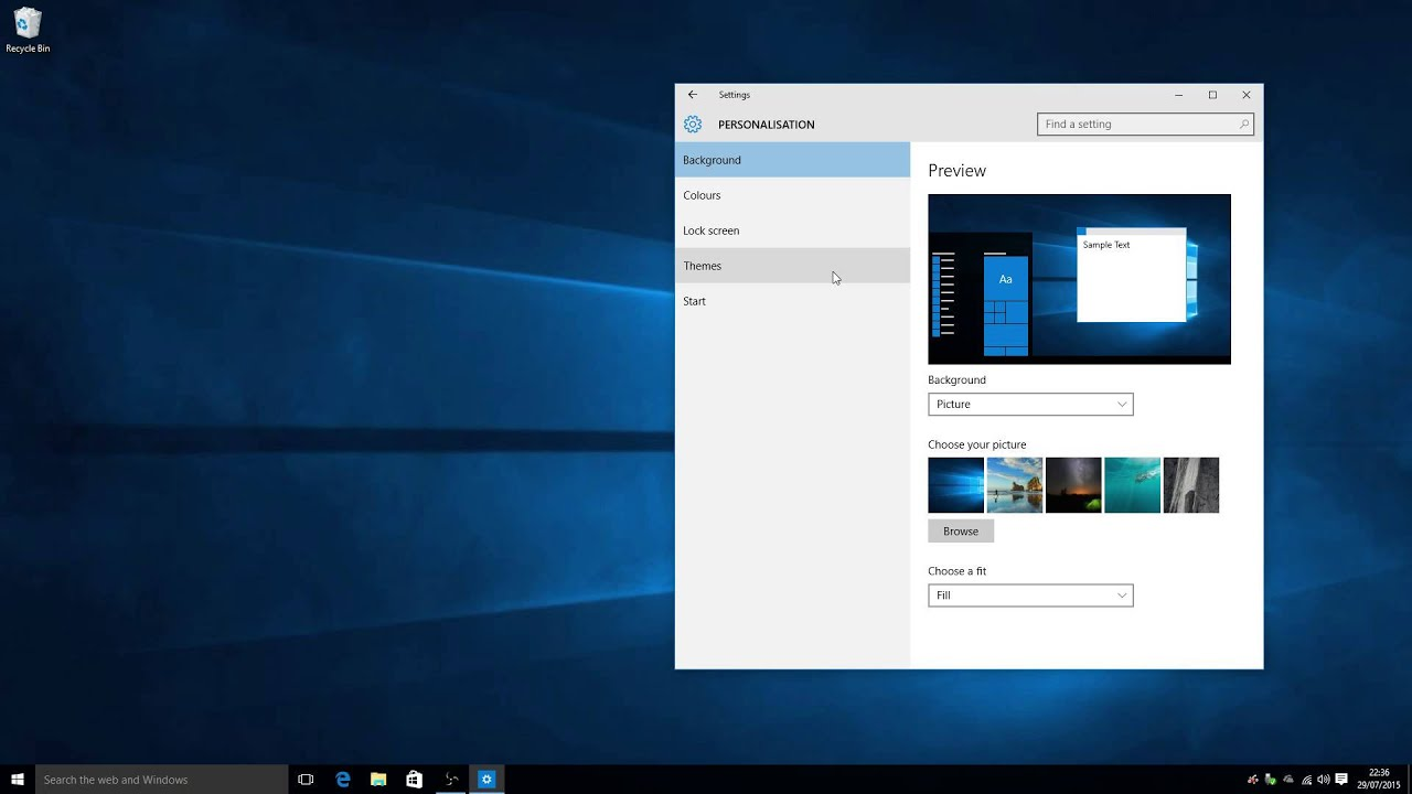 My desktop icons are missing on windows 10 new install for Installing new windows
