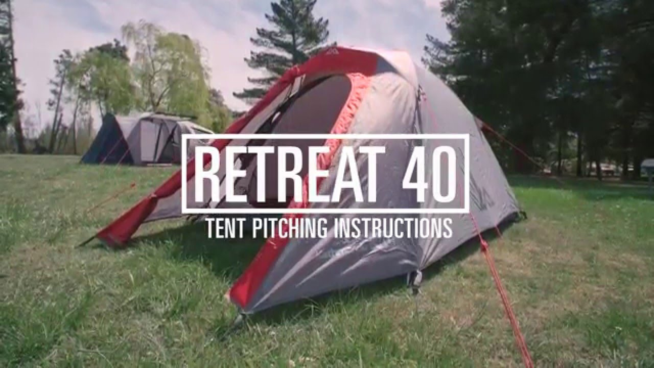 How to Pitch a Kathmandu Retreat 40 Tent & How to Pitch a Kathmandu Retreat 40 Tent - YouTube