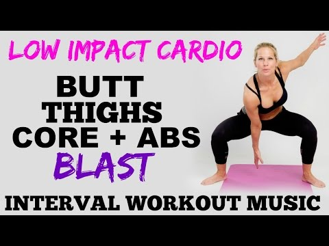 Low Impact Cardio, Lower Body, Butt, Thighs and Abs Workout, Lower Body Toning