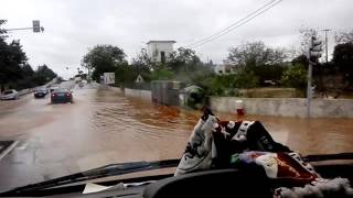 Flash floods in the algarve Portugal