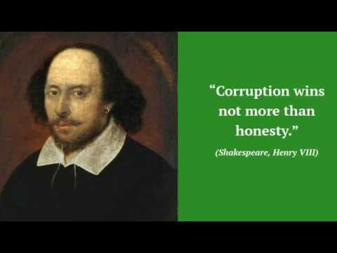 Corruption essay Quotation