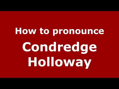 How to pronounce Condredge Holloway (American English/US)  - PronounceNames.com