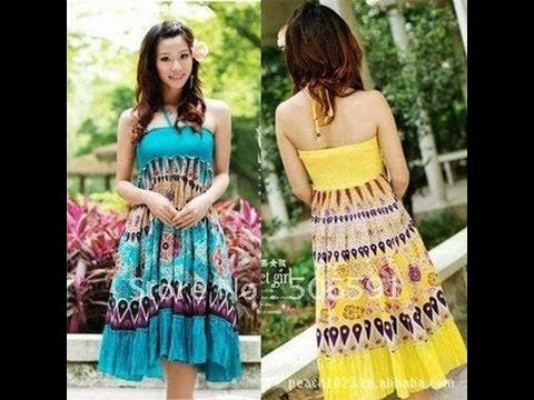 d922ad15cfed HOW TO SEW EASY A 5MIN SUMMER MAXI TUBE DRESS - YouTube