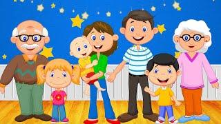 МОЯ СЕМЬЯ.Первые слова для малыша в картинках Учим слова для детей 1 3 года.