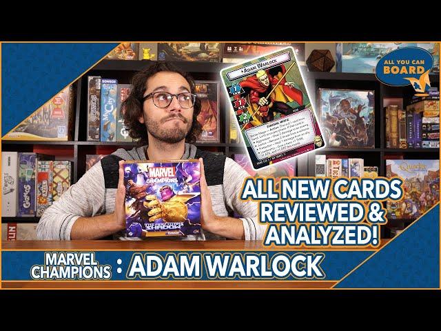 Adam Warlock Hero   Marvel Champions   All NEW Cards REVIEWED & ANALYZED (4 ASPECTS!)