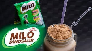 Cara Mudah Membuat Minuman Milo Dinosaur