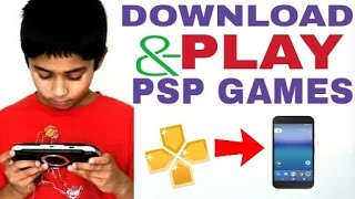 How to Download & Play PSP Games on Android with PPSSPP Emulator (No PC Needed)- Hindi