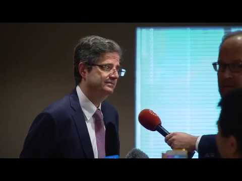 François Delattre (France) on the situation in Libya  -  Media Stakeout (16 November 2017)