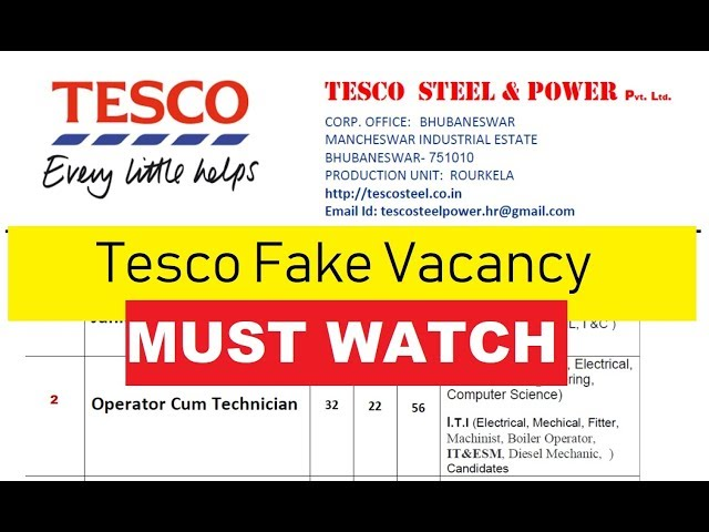 Tesco Job Application Form Pdf