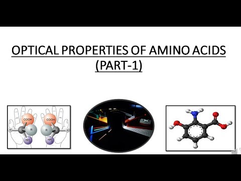 OPTICAL PROPERTIES OF AMINO ACIDS || PART - 1