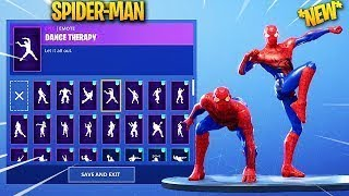 *NEW* Fortnite Skin Mods With dances! ( black panther, spider man, batman.)