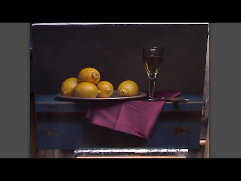 Old Master inspired still life painting demo