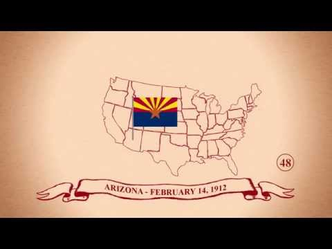 The 50 States in Order of Statehood Animation