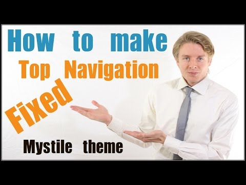 How to make Mystile theme Top Navigation Fixed