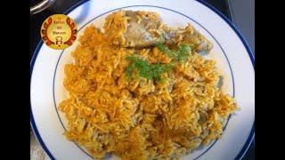 indisches Hähnchen Reisgericht Pullau