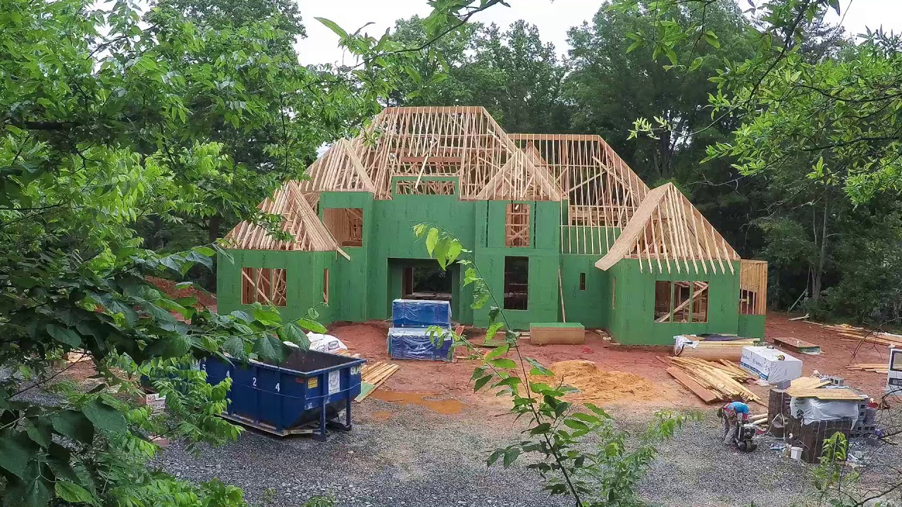 Time Lapse Building Of A Luxury Home Start To Finish