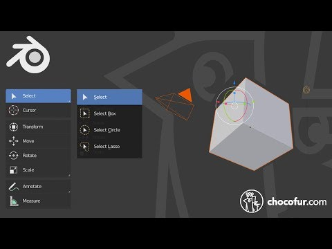 Object Selection And Transformation Gizmo - Blender 2.8 Beginner Tutorial [Part 2/20]