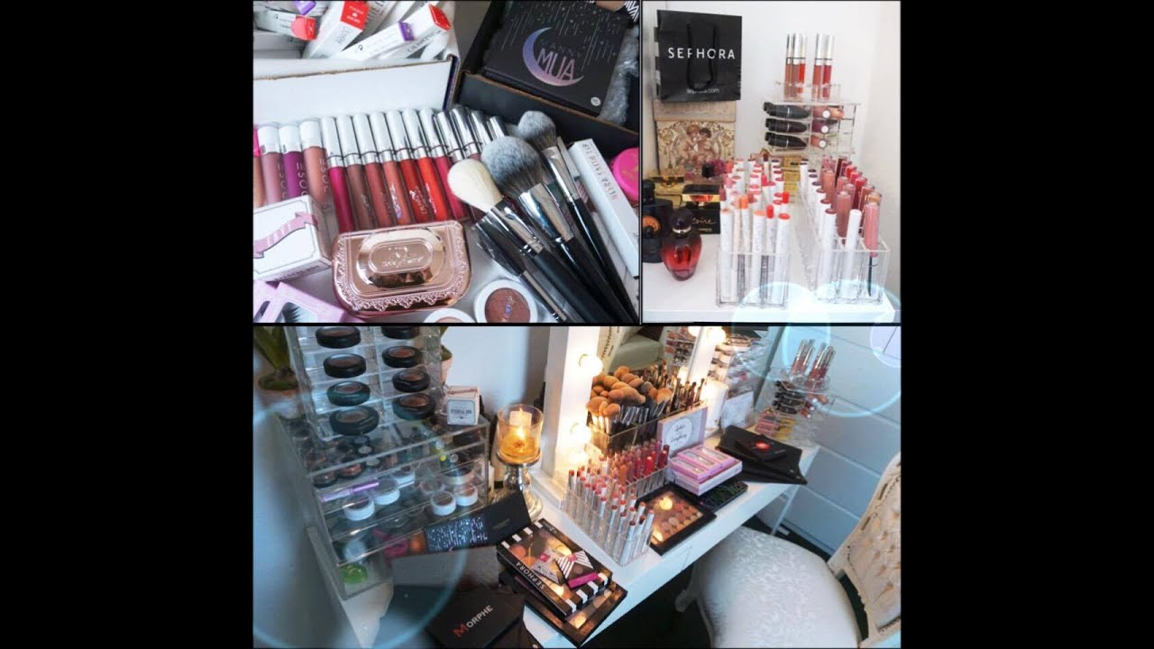 make up sammlung 2016 make up collection mein schminktisch 2016 colourpop becca chanel. Black Bedroom Furniture Sets. Home Design Ideas
