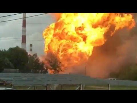 ВИДЕО   В подмосковных Мытищах горит ТЭЦ