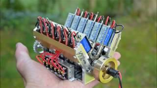 V12 à électro-aimants - V12 solenoid model engine