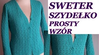Sweter na szydełku prosty wzór diy