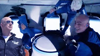 This is what Jeff Bezos did while in space   Blue Origin Launch