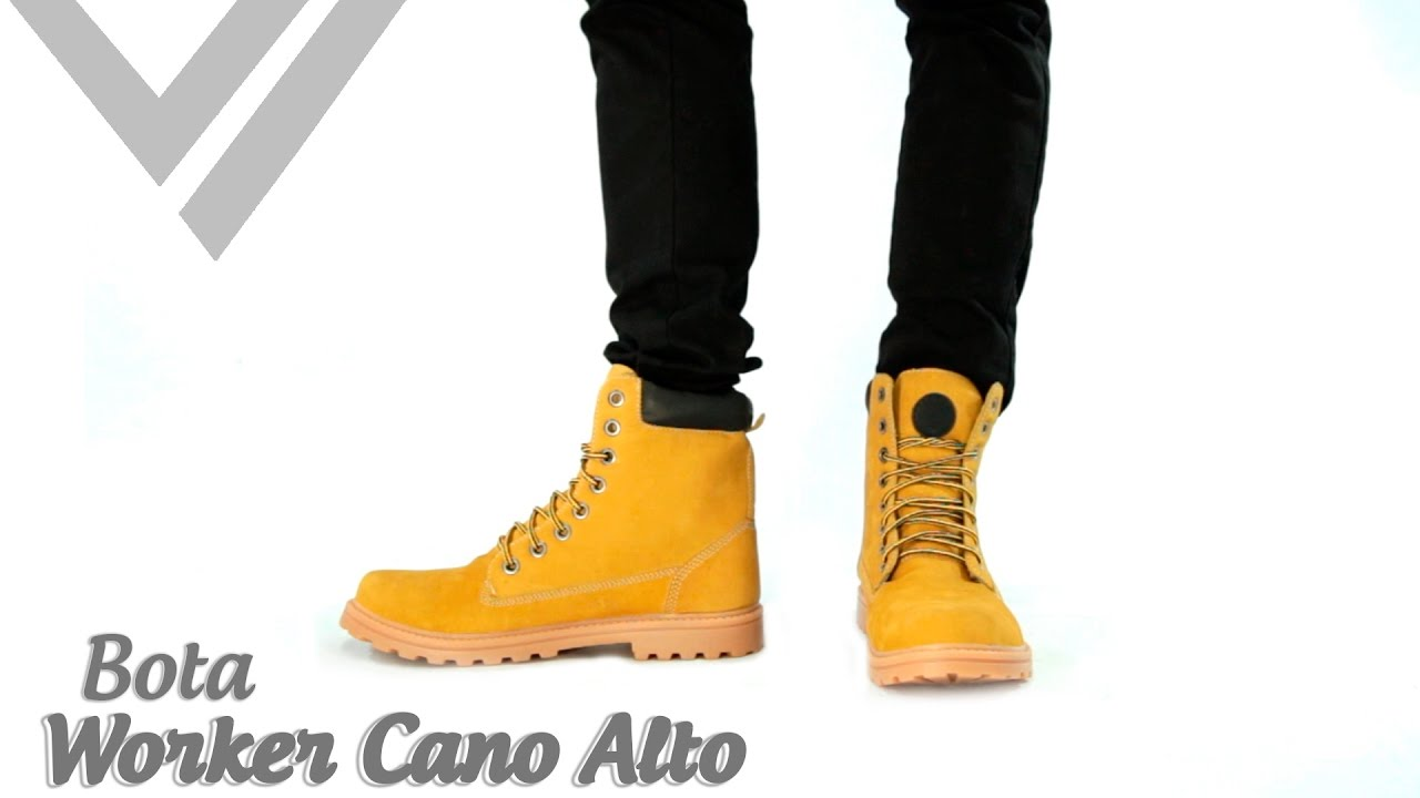 dd769ce23 Bota Masculina - Worker Cano Alto Amarelo | Sandro Moscoloni