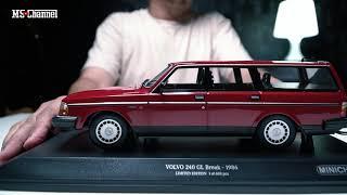 Unboxing Volvo 245 Estate MiniChamp DieCast Model 1:18 Scale #volvo #diecast #minichamps