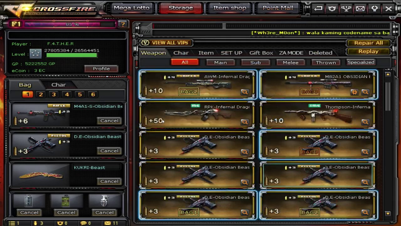 [PH CROSSFIRE] WATCH THIS VIDEO AND GET FREE VIP GUN