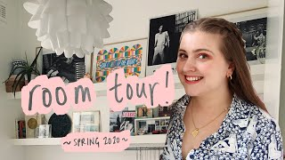 Small room tour! ✨ my bedroom in London UK, Spring 2020 :)