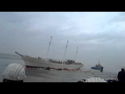 launching of Sail Training Vessel (STV Y.N. 1219)