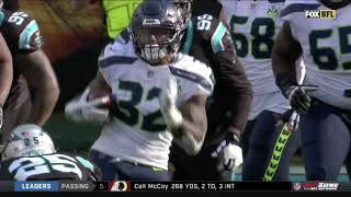Chris Carson LANDS Front Flip While Trying to Hurdle! | Seahawks vs Panthers | Week 12