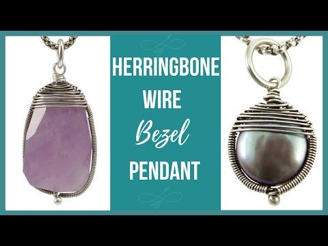 Herringbone Wire Bezel Pendant Tutorial - Beaducation.com