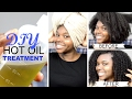 DIY Hot Oil Treatment + Growth Stimulating Scalp Massage For Natural Hair