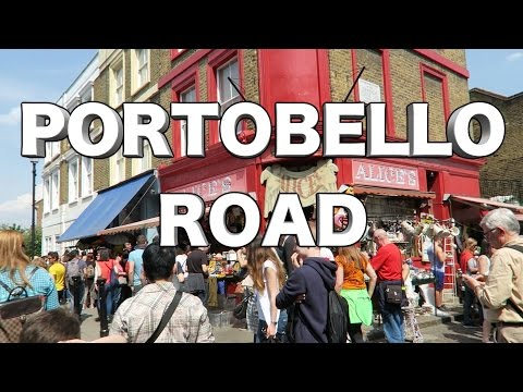 Portobello Road Market Notting Hill - One Summer day in London