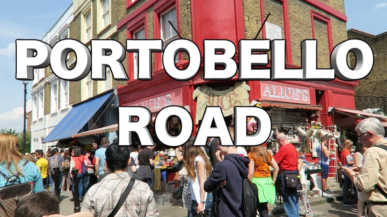 portobello road market notting hill one summer day in london youtube. Black Bedroom Furniture Sets. Home Design Ideas