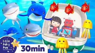 10 Little Animals From The Sea | +More Nursery Rhymes & Kids Songs | ABCs and 123s | Little Baby Bum