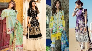 This EID 2018 Branded Dresses Collection | Summer Lawn Kurti Shirt Designs